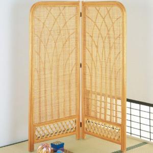 籐スクリーン 2連 ミドル b315 籐家具 籐 ラタン家具 ラタン 衝立 和風 スクリーン 間仕切り パーテーショ|bookshelf