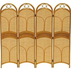 籐スクリーン 4連 b401 籐家具 籐 ラタン家具 ラタン 衝立 和風 スクリーン 間仕切り パーテーション イン|bookshelf