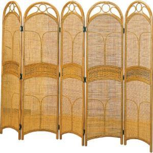 籐スクリーン 5連 b408 籐家具 籐 ラタン家具 ラタン 衝立 和風 スクリーン 間仕切り パーテーション イン|bookshelf