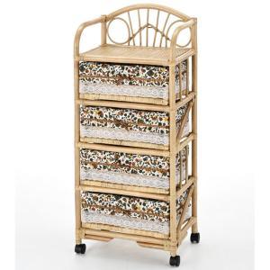 籐ランドリーボックスチェスト 4段 e3201 籐家具 籐 ラタン家具 ラタン ランドリー ランドリーラック ラン bookshelf