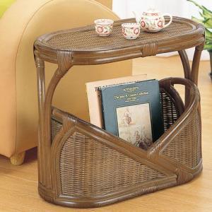 籐サイドテーブル r264b 籐家具 籐 ラタン家具 ラタン マガジンラック テーブル サイドテーブル bookshelf