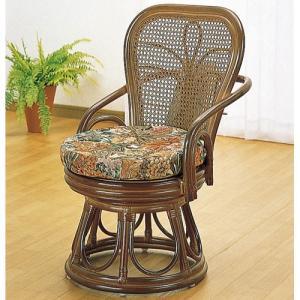籐家具 ラタン 椅子 チェアー 回転いす ハイバックチェア アームチェア 肘掛け椅子 パーソナルチェア リラックスチェア 籐回転ダイニングチェア s42b|bookshelf