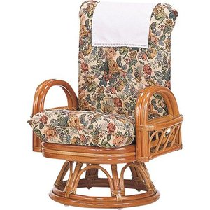 籐リクライニング回転座椅子 ハイ s593 椅子 イス いす チェアー チェア 籐の椅子 籐回転椅子 回転 回転式椅子 回転高座椅子 回転いす 回転イス 肘掛|bookshelf