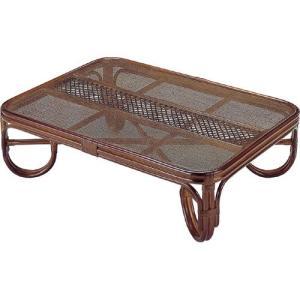 籐家具 ラタン テーブル 座卓 ガラステーブル リビングテーブル センターテーブル コーヒーテーブル 座卓テーブル 籐座卓 幅120cm t124b|bookshelf
