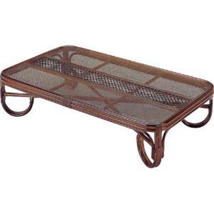 籐家具 ラタン テーブル 座卓 ガラステーブル リビングテーブル センターテーブル コーヒーテーブル 座卓テーブル 籐座卓 幅150cm t125b|bookshelf