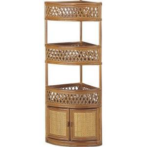 籐コーナーラック 3段 w894 籐家具 籐 ラタン家具 ラタン コーナー 棚 収納 コーナー家具 コーナーラック|bookshelf