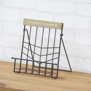 食器棚収納 レンジ台 カウンター レシピスタンド ブラウン akb-419br bookshelf