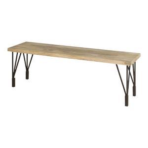 天然木×スチール脚のヴィンテージ調ダイニングベンチ アント 幅140cm 長方形 4人掛け用 4人用 テーブル 食卓テーブル 食事テーブル カフェテーブル テーブル|bookshelf