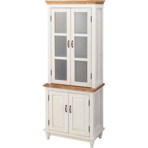 食器棚収納 レンジ台 カウンター カントリー調木製食器棚 ミディ 幅68cm高さ175cm cfs-215|bookshelf