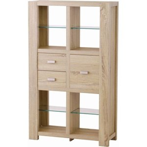本収納 収納ラック 木製インテリアシェルフ フィーカ 幅86cm高さ143cm fik-102na|bookshelf