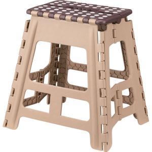 スツール 完成品 折りたたみ 脚立 クラフター L ブラウン チェア チェアー いす 椅子 イス 台 インテリア 腰掛け 折り畳みスツール 折りたたみスツール 踏み台|bookshelf