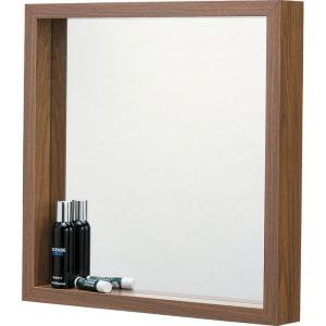 完成品 壁掛け ミラー ウォールミラー L ウォールナット 壁掛けミラー 鏡 かがみ 壁面ミラー 壁面鏡 木製フレーム 木製 シンプル 壁掛け鏡 吊鏡 洗面所 洗面鏡|bookshelf