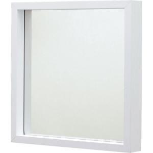 完成品 壁掛け ミラー ウォールミラー L ホワイト 壁掛けミラー 鏡 かがみ 壁面ミラー 壁面鏡 木製フレーム 木製 シンプル 壁掛け鏡 吊鏡 洗面所 洗面鏡 メイク|bookshelf