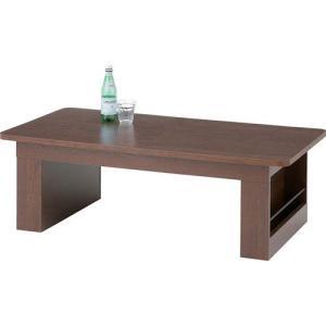 伸縮テーブル リビングテーブル 収納付き モノ サイドポケット付 ブラウン テーブル 机 つくえ 伸縮式テーブル 伸長式テーブル ローテーブル センターテーブル|bookshelf