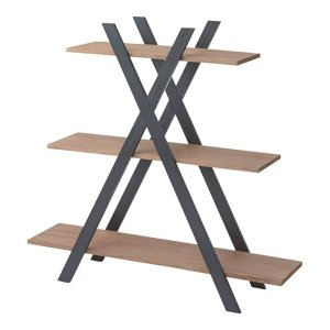 デザインオープンラック アイザック 3段 幅130cm高さ123cm|bookshelf