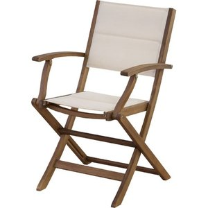 リゾート風折りたたみ木製ガーデンチェア マリーノ 肘付き nx-912|bookshelf