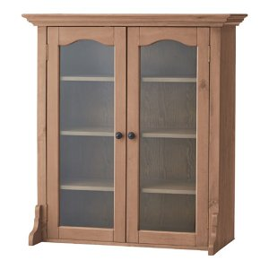 食器棚向け上置扉収納キャビネット バーニー 幅85cm高さ93cm|bookshelf