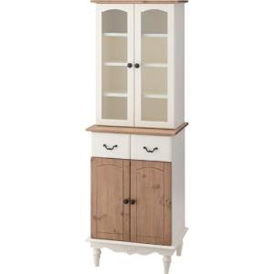 姫家具風カントリー調食器棚 ビッキー 幅55cm高さ160cm pm-853|bookshelf