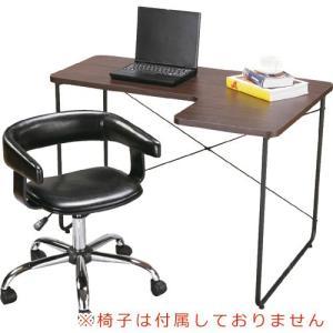 デスク 机 L型デスク 幅110cm ブラウン pt-526br bookshelf