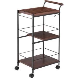 食器棚収納 レンジ台 カウンター キッチンワゴン ノーム スライド pw-403br|bookshelf
