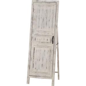 完成品 アンティーク風 木製 スタンドミラー 北欧 おしゃれ ドア風扉付き ソーレ ホワイト 鏡 ミラー 壁掛け 壁掛鏡 壁掛け鏡 全身鏡 全身ミラー 姿見鏡|bookshelf