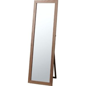 完成品 スタンドミラー 鏡 全身 姿見 角型 トリコ ブラウン 木製 ウッド 木製フレーム 天然木 スタンド スタンドタイプ ミラー 姿見鏡 全身鏡 全身ミラー 北欧|bookshelf