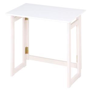折りたたみ木製デスク ミラン 幅70cm ホワイトウォッシュ テーブル 机 省スペース パソコンデスク ワークデスク シンプル 木目調 棚付き 組立不要 完成品|bookshelf