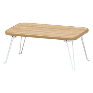 折りたたみリビングテーブル 幅45cm ナチュラル×ホワイト テーブル ローテーブル 机 省スペース シンプル 軽量 木目調 組立不要 完成品 b-14413 おしゃれ 安い|bookshelf