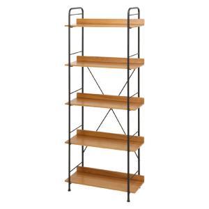 スチールラック SMART 幅71cm高さ151cm 5段 インダストリアル風 シンプル 収納 本棚 シェルフ スチール 木製 b-31286 おしゃれ 安い|bookshelf