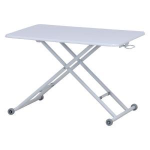 ガス圧昇降式リビングテーブル 幅90cm ホワイト テーブル 机 シンプル 高さ調整 折りたたみ 省スペース 組立不要 完成品 b-74709|bookshelf