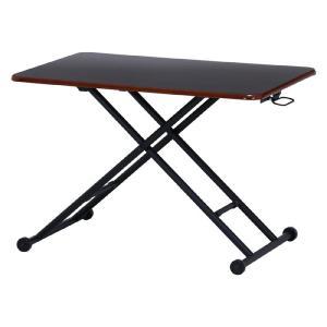 ガス圧昇降式リビングテーブル 幅90cm ブラウン テーブル 机 シンプル 高さ調整 折りたたみ 省スペース 組立不要 完成品 b-74710|bookshelf