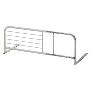 横伸縮ベッドガード ホワイト b-78132 おしゃれ 安い|bookshelf