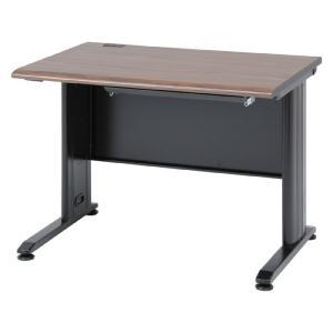 デスク 机 木目調スチールデスク 幅100cm ブラウン b-79612|bookshelf