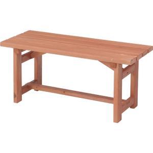 天然木製ガーデンベンチ 幅90cm 83995 おしゃれ 安い|bookshelf