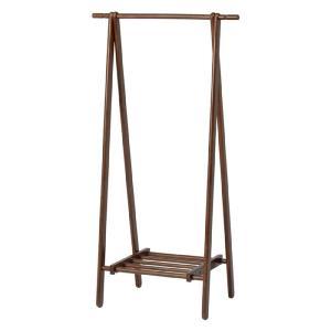 折りたたみ木製ハンガーラック 幅80cm ブラウン 89251 おしゃれ 安い|bookshelf