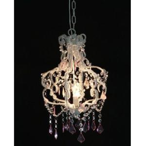 ライト 照明 アンティークシャンデリアランプ 1灯 ピンクB 94452|bookshelf