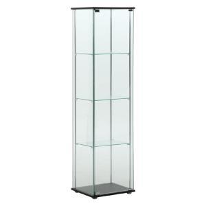 本収納 収納ラック ガラスコレクションケース 4段 96047|bookshelf