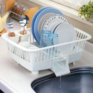 キッチン用品 食器 調理器具 キッチン洗いカゴ ウォータースルー|bookshelf