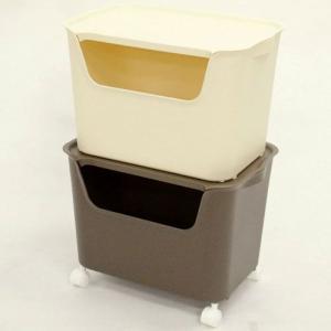 本収納 収納ラック 収納ボックス2個セット L2個 カタス|bookshelf
