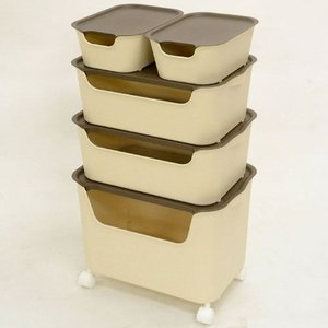 本収納 収納ラック 収納ボックス5個セット L1個+M2個+S2個|bookshelf