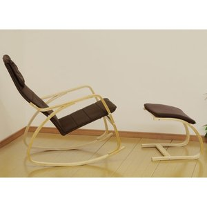 リラックスロッキングチェア オットマン付き ダークブラウン 一人掛け 椅子 いす イス chair リラックスチェア 1人掛けチェア cr-5892s-dbr bookshelf