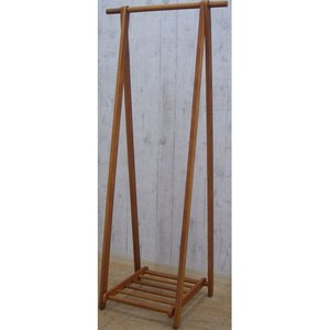 折りたたみ 折り畳み ハンガーラック 折りたたみA型木製ハンガーラック 幅73cm ブラウン 木製 天然木 小物置き 折りたたみ式 スリム 隙間収納 コート 安い|bookshelf