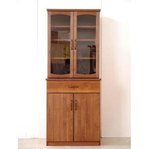 食器棚 幅71cm高さ175cm モント ga-mt-kc-070-na|bookshelf