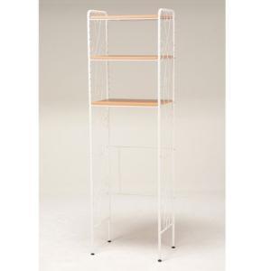 エレガントアイアン冷蔵庫ラック 幅58cm高さ190cm ホワイト KCC-3550WH hg-kcc-3550wh|bookshelf