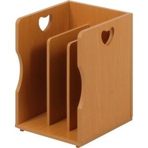 積み重ね可能ブックスタンド ハートデザイン ナチュラル 4個組 MM-7205NA hg-mm-7205na|bookshelf