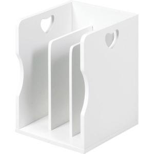 積み重ね可能ブックスタンド ハートデザイン ホワイト 4個組 MM-7205WH hg-mm-7205wh|bookshelf