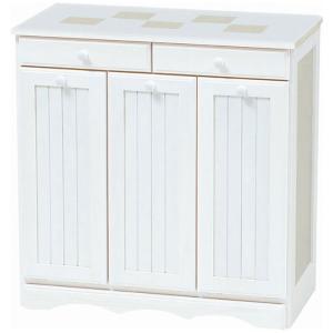 ごみ箱内蔵薄型キッチンカウンター 隠しキャスター付き 幅69cm高さ70cm ホワイトウォッシュ MUD-3557WS hg-mud-3557ws|bookshelf