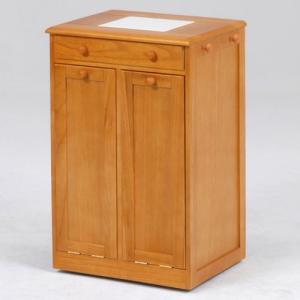 ごみ箱内蔵薄型キッチンカウンター 隠しキャスター付き 幅45cm高さ71cm ナチュラル MUD-6256NA hg-mud-6256na|bookshelf