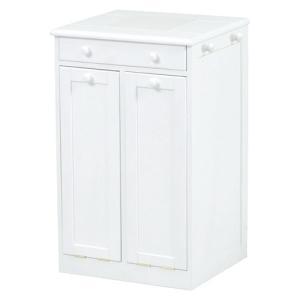 ごみ箱内蔵薄型キッチンカウンター 隠しキャスター付き 幅45cm高さ71cm ホワイト MUD-6256WH hg-mud-6256wh|bookshelf