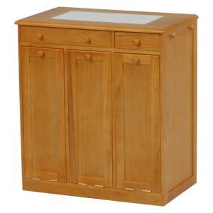 ごみ箱内蔵薄型キッチンカウンター 隠しキャスター付き 幅66cm高さ71cm ナチュラル MUD-6257NA hg-mud-6257na|bookshelf